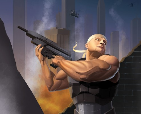 Brute War Video Game Cover